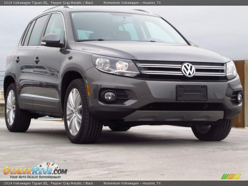 2014 Volkswagen Tiguan Sel Pepper Gray Metallic Black