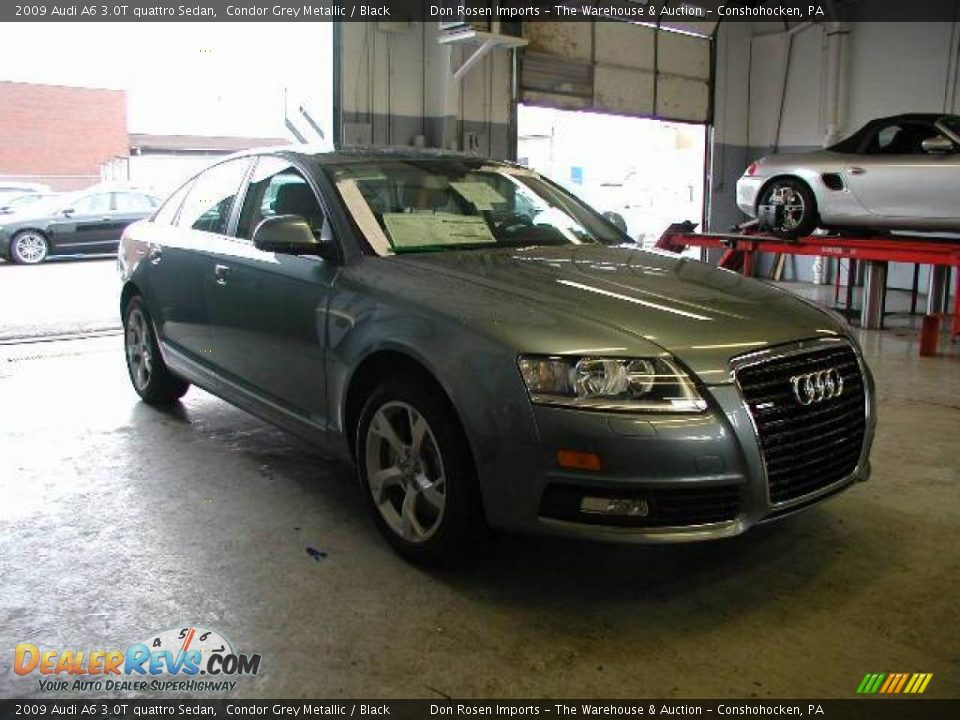 2009 Audi A6 3.0T quattro Sedan Condor Grey Metallic / Black Photo #4 ...