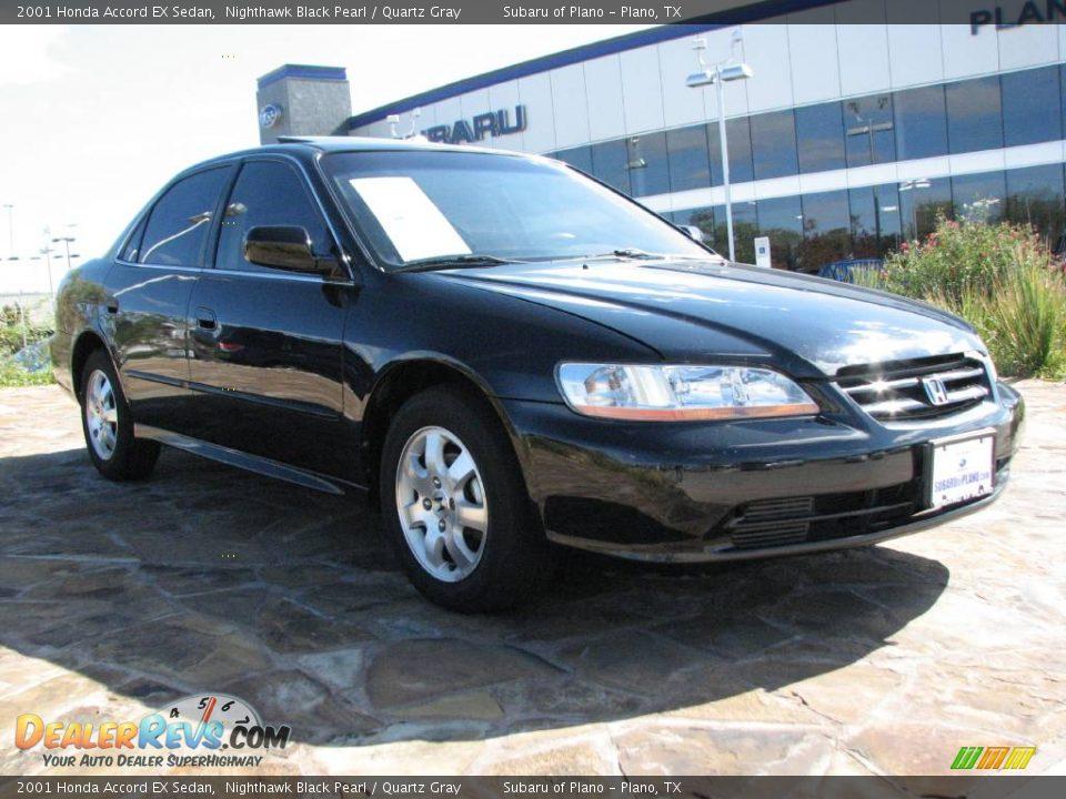 2001 Honda Accord Ex Sedan Nighthawk Black Pearl Quartz Gray Photo 1