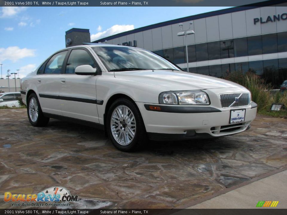 2001 volvo s80 t6 white taupe light taupe photo 1. Black Bedroom Furniture Sets. Home Design Ideas