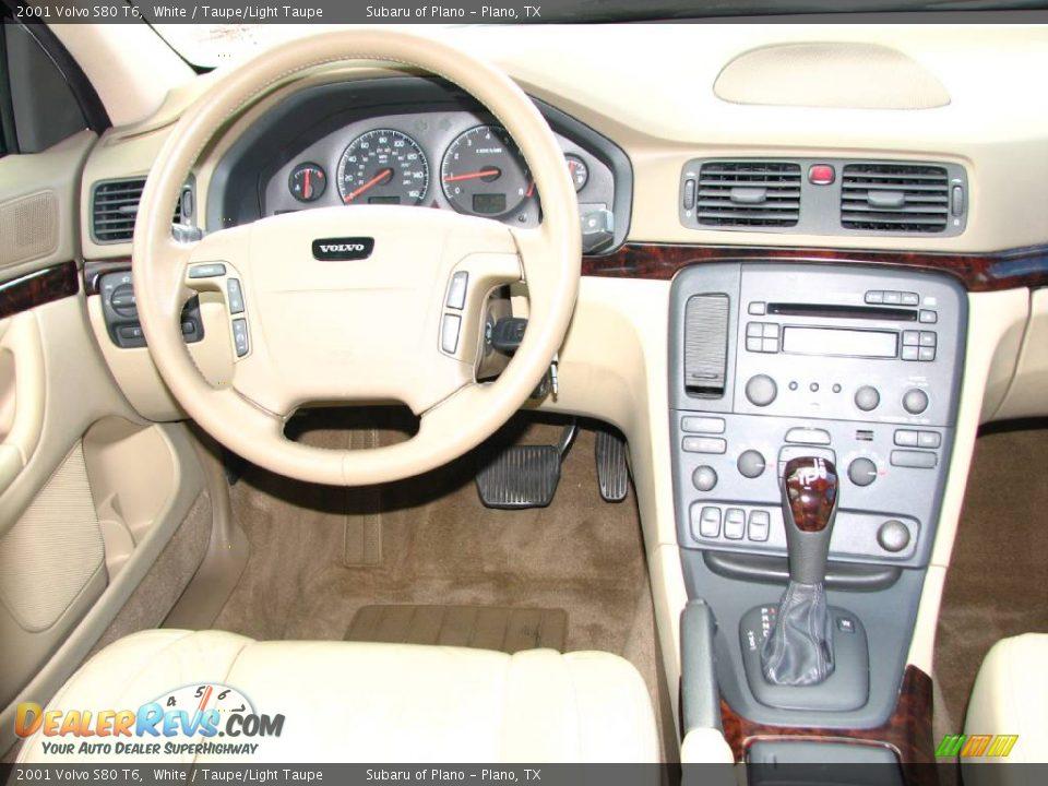 Volvo S80 2001 White 2001 Volvo S80 t6 White Taupe Light Taupe Photo 14
