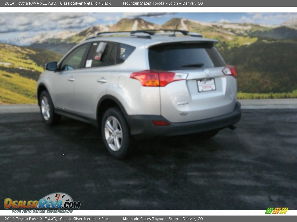 2014 toyota rav4 xle awd classic silver metallic black. Black Bedroom Furniture Sets. Home Design Ideas