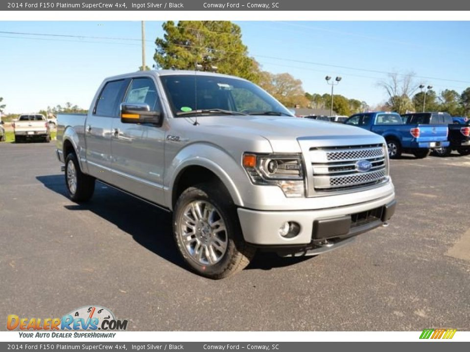 2014 ford f150 platinum supercrew 4x4 ingot silver black. Black Bedroom Furniture Sets. Home Design Ideas
