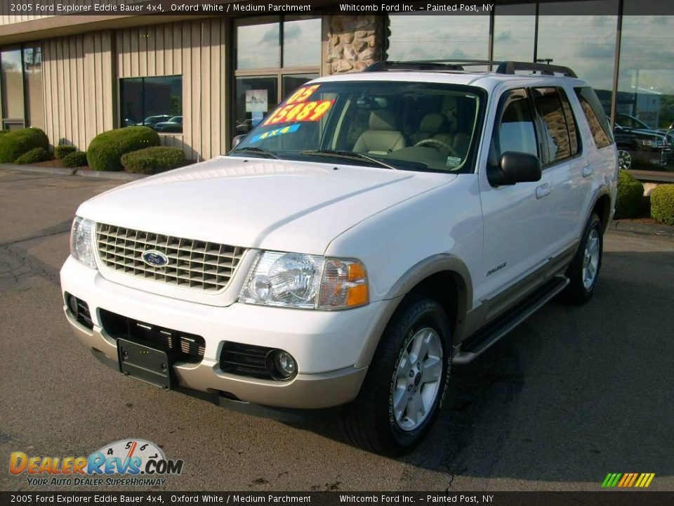 2005 ford explorer eddie bauer 4x4 oxford white medium parchment photo 1. Black Bedroom Furniture Sets. Home Design Ideas