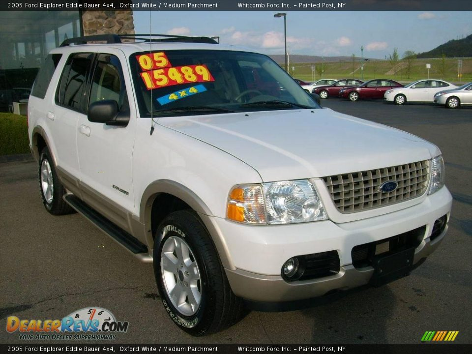 2005 ford explorer eddie bauer 4x4 oxford white medium parchment photo 3. Black Bedroom Furniture Sets. Home Design Ideas