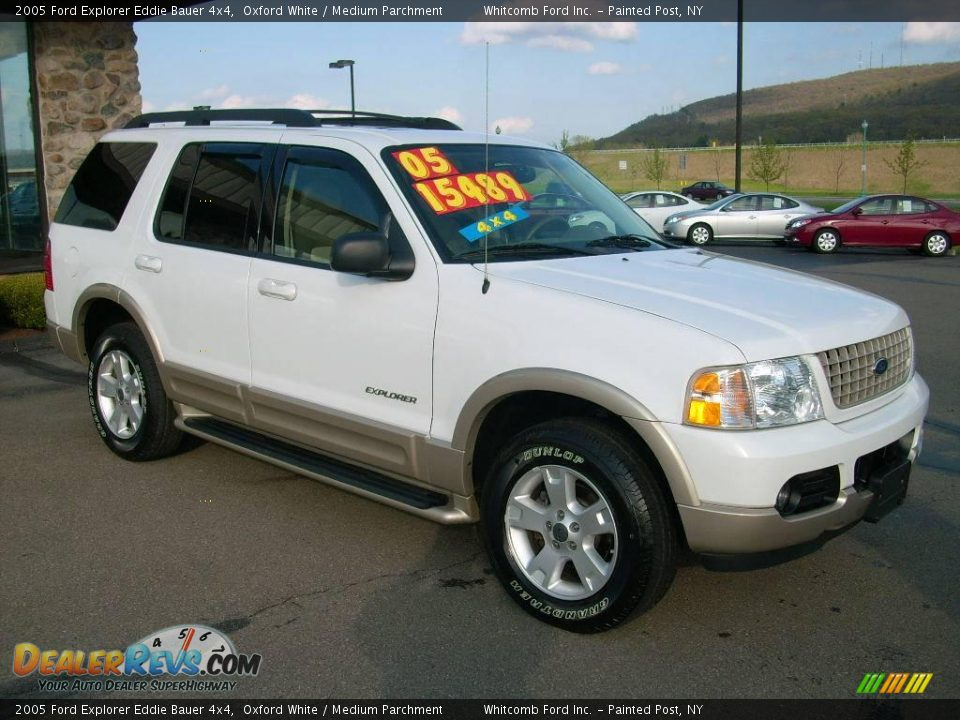2005 ford explorer eddie bauer 4x4 oxford white medium parchment photo 4. Black Bedroom Furniture Sets. Home Design Ideas