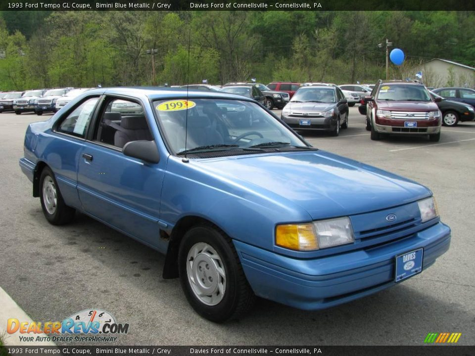 1993 ford tempo gl coupe bimini blue metallic grey photo. Black Bedroom Furniture Sets. Home Design Ideas