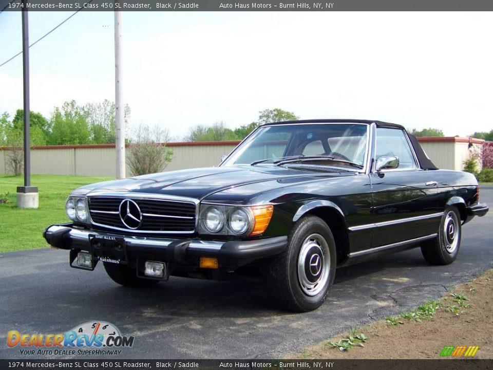 1974 mercedes benz sl class 450 sl roadster black saddle for Mercedes benz sl 450