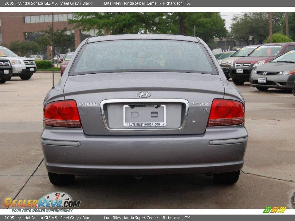 2005 Hyundai Sonata Gls V6 Steel Gray Black Photo 6