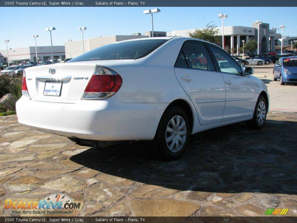 2005 Toyota Camry Le Super White Gray Photo 7