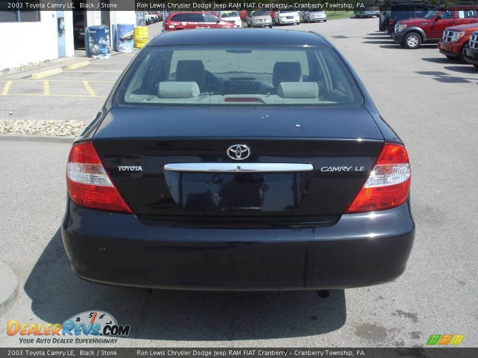 2003 Toyota Camry Black 2003 Toyota Camry le Black