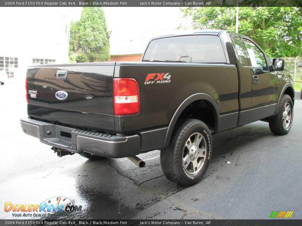 2004 ford f150 fx4 regular cab 4x4 black black medium. Black Bedroom Furniture Sets. Home Design Ideas