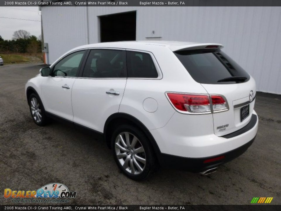 2008 mazda cx 9 grand touring awd crystal white pearl mica black photo 6. Black Bedroom Furniture Sets. Home Design Ideas
