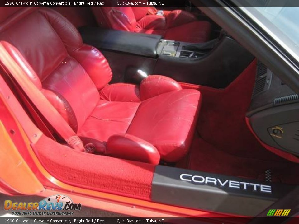 1990 Chevrolet Corvette Convertible Bright Red / Red Photo #9