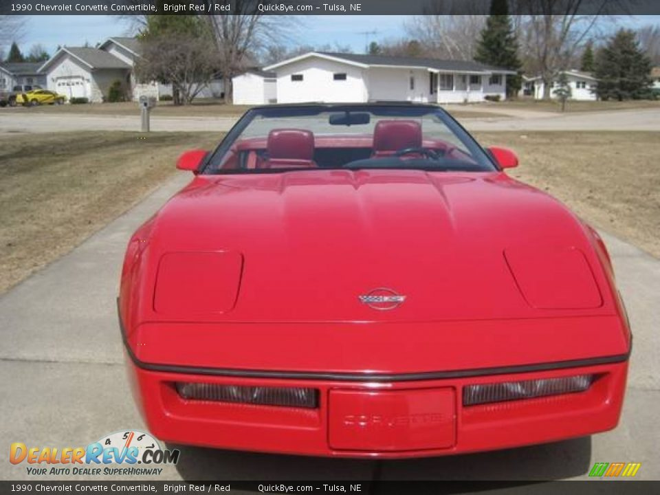 1990 Chevrolet Corvette Convertible Bright Red / Red Photo #11