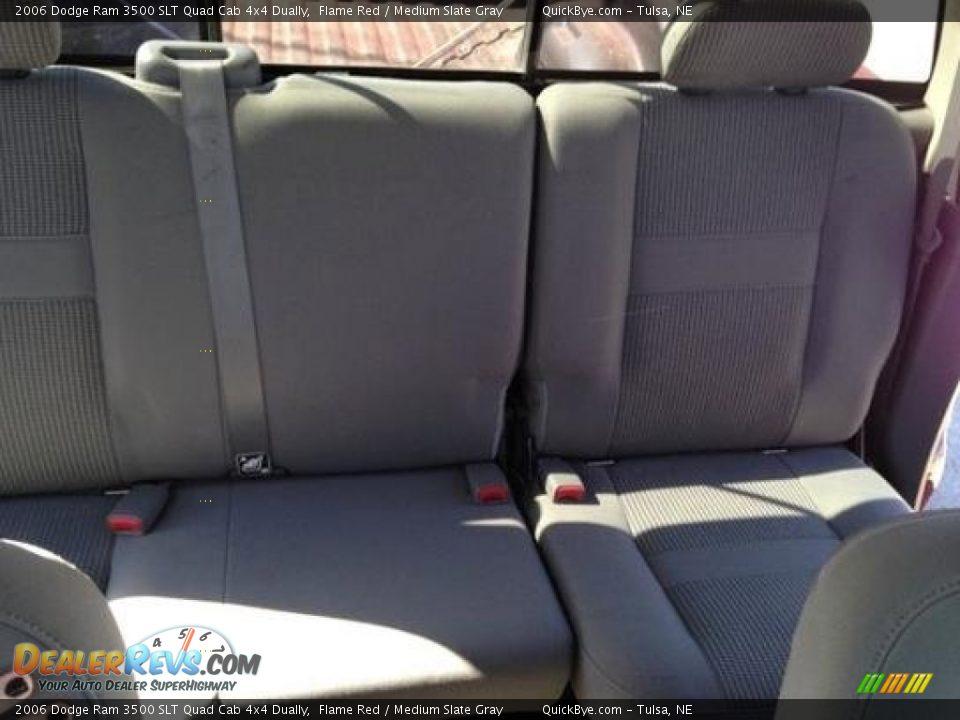 2006 Dodge Ram 3500 SLT Quad Cab 4x4 Dually Flame Red / Medium Slate Gray Photo #8