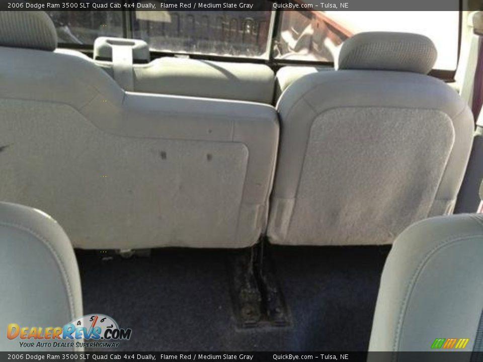 2006 Dodge Ram 3500 SLT Quad Cab 4x4 Dually Flame Red / Medium Slate Gray Photo #9