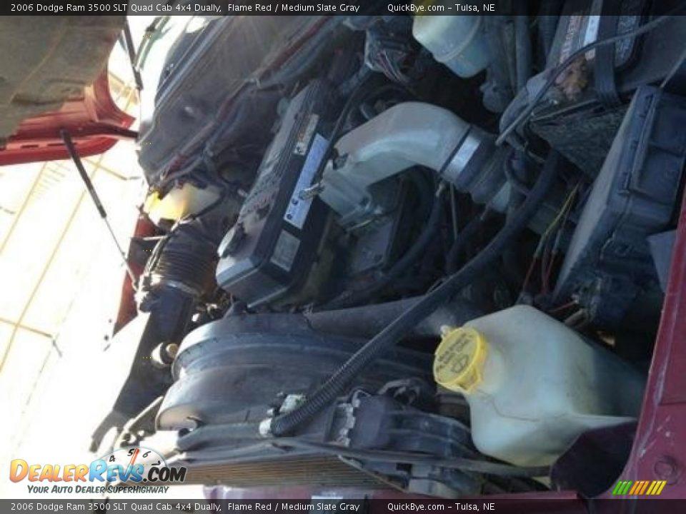 2006 Dodge Ram 3500 SLT Quad Cab 4x4 Dually Flame Red / Medium Slate Gray Photo #10