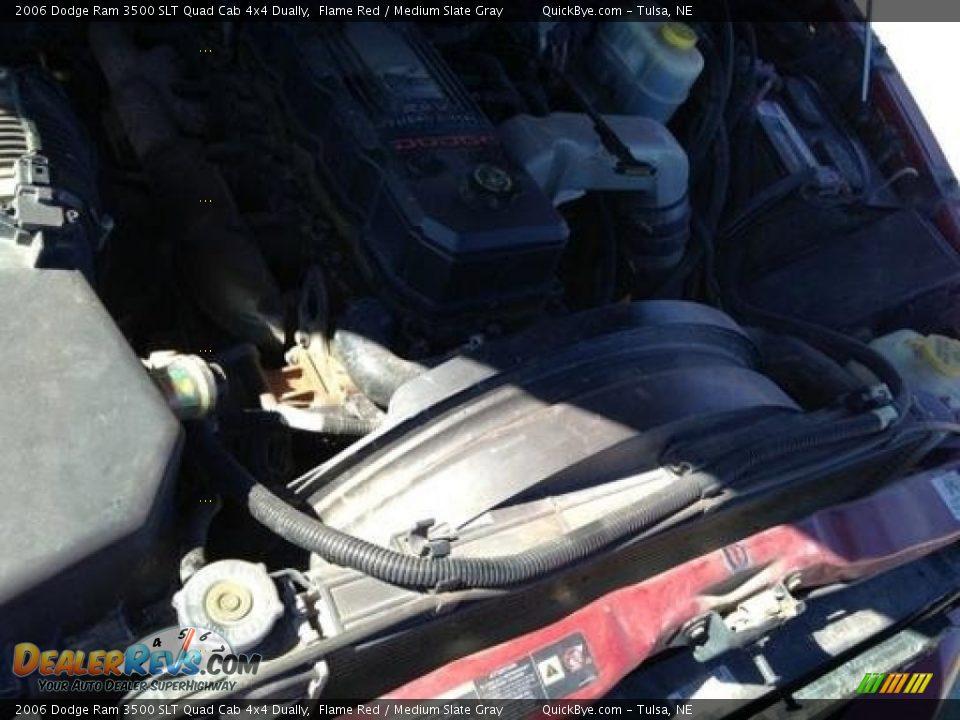 2006 Dodge Ram 3500 SLT Quad Cab 4x4 Dually Flame Red / Medium Slate Gray Photo #11