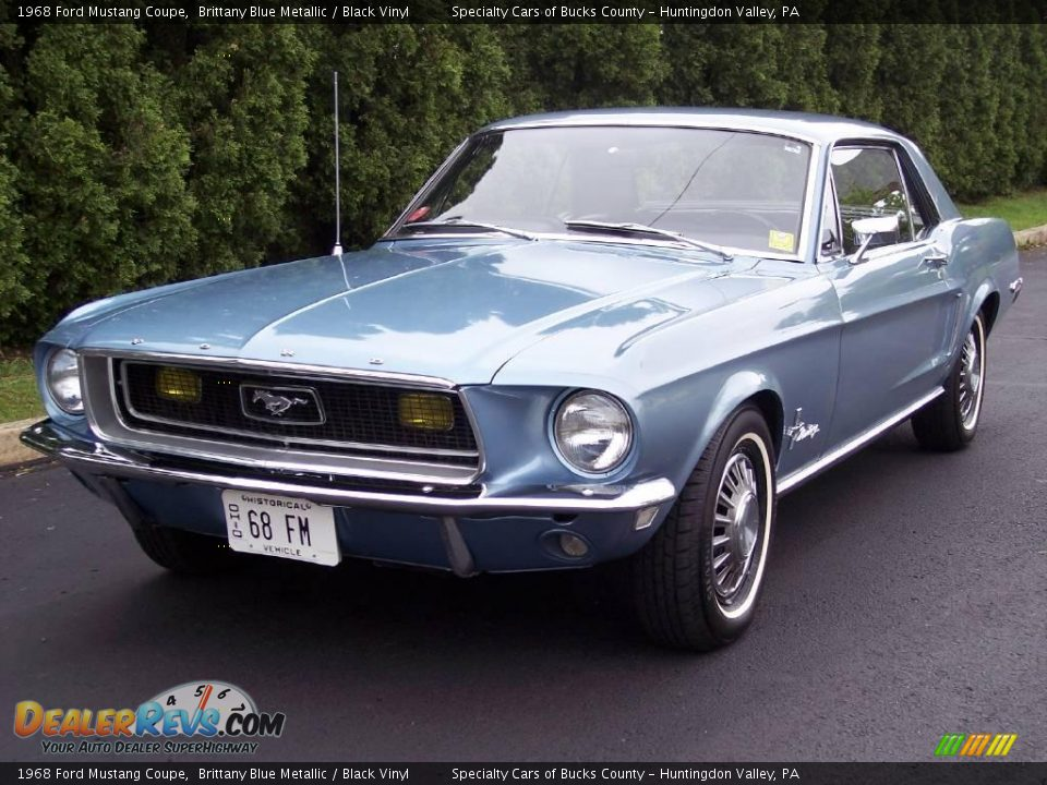 1968 Ford Mustang Coupe Brittany Blue Metallic / Black ...1968 Mustang Coupe Black