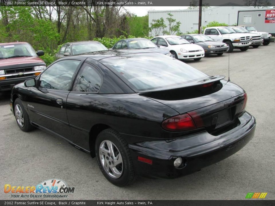 2002 pontiac sunfire se coupe black graphite photo 7. Black Bedroom Furniture Sets. Home Design Ideas