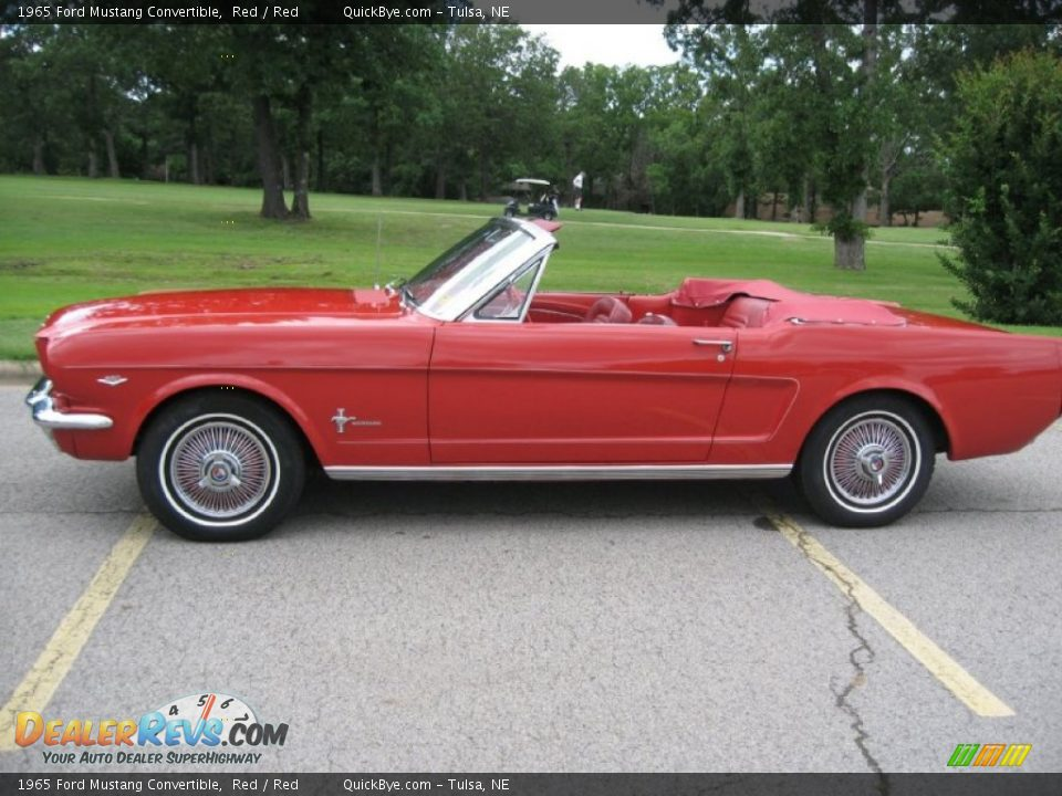 1965 Ford Mustang Convertible Red / Red Photo #1