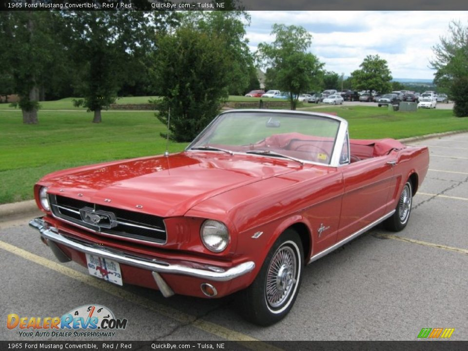1965 Ford Mustang Convertible Red / Red Photo #2