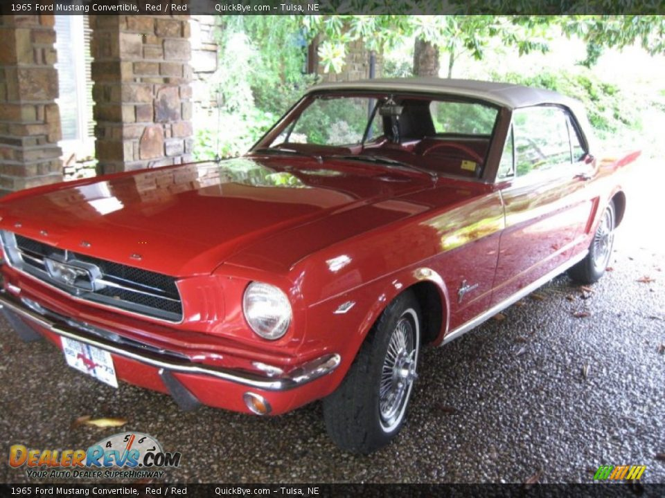 1965 Ford Mustang Convertible Red / Red Photo #3