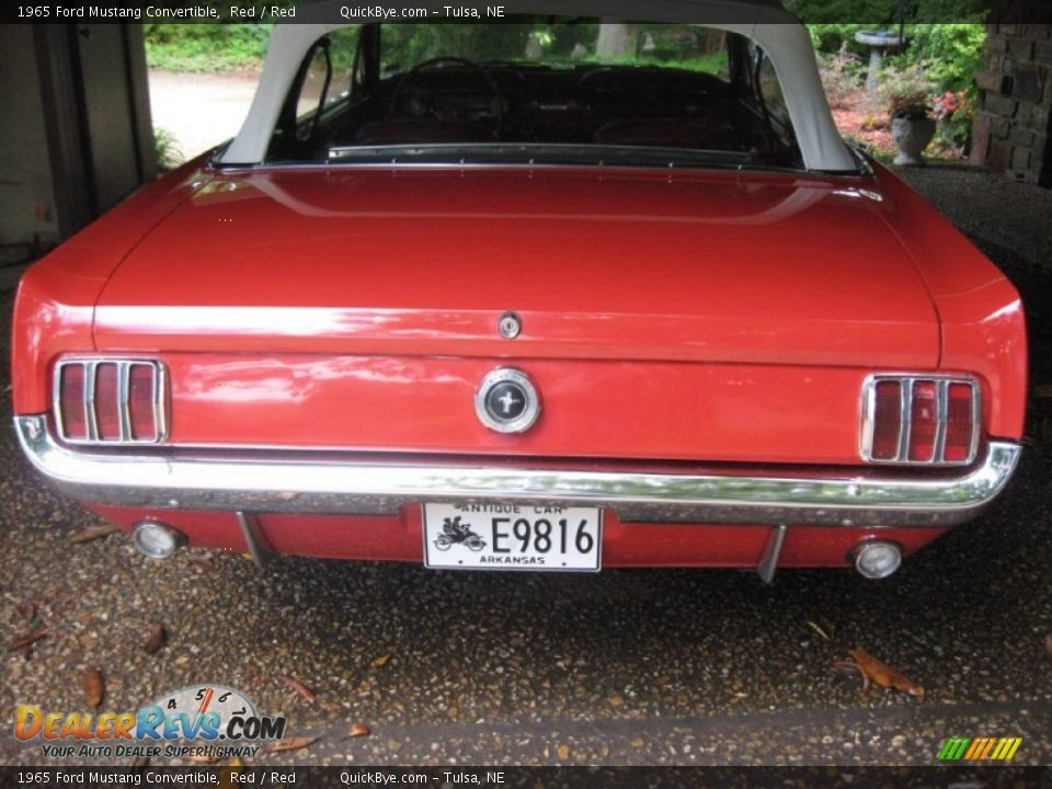 1965 Ford Mustang Convertible Red / Red Photo #5