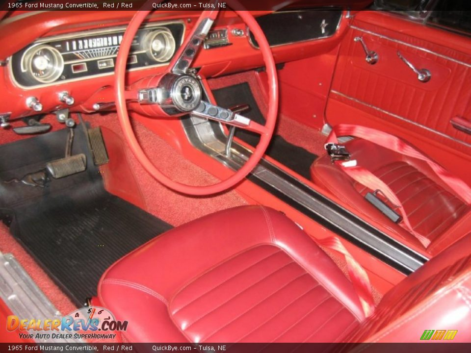 1965 Ford Mustang Convertible Red / Red Photo #7