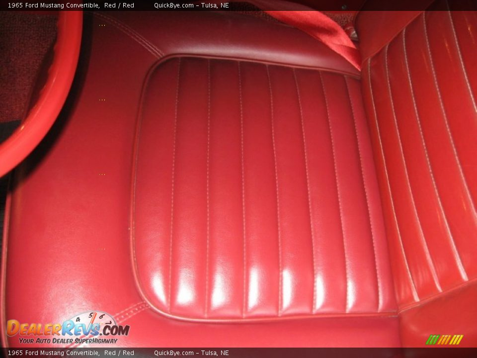 1965 Ford Mustang Convertible Red / Red Photo #9