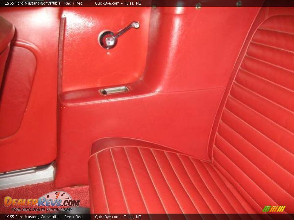 1965 Ford Mustang Convertible Red / Red Photo #13