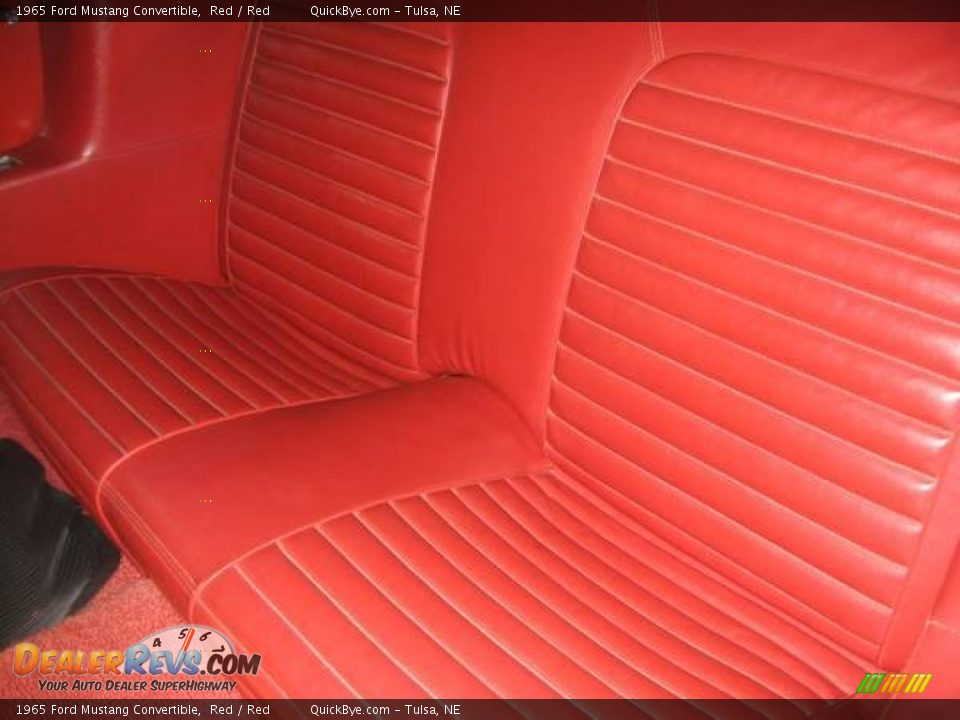 1965 Ford Mustang Convertible Red / Red Photo #14