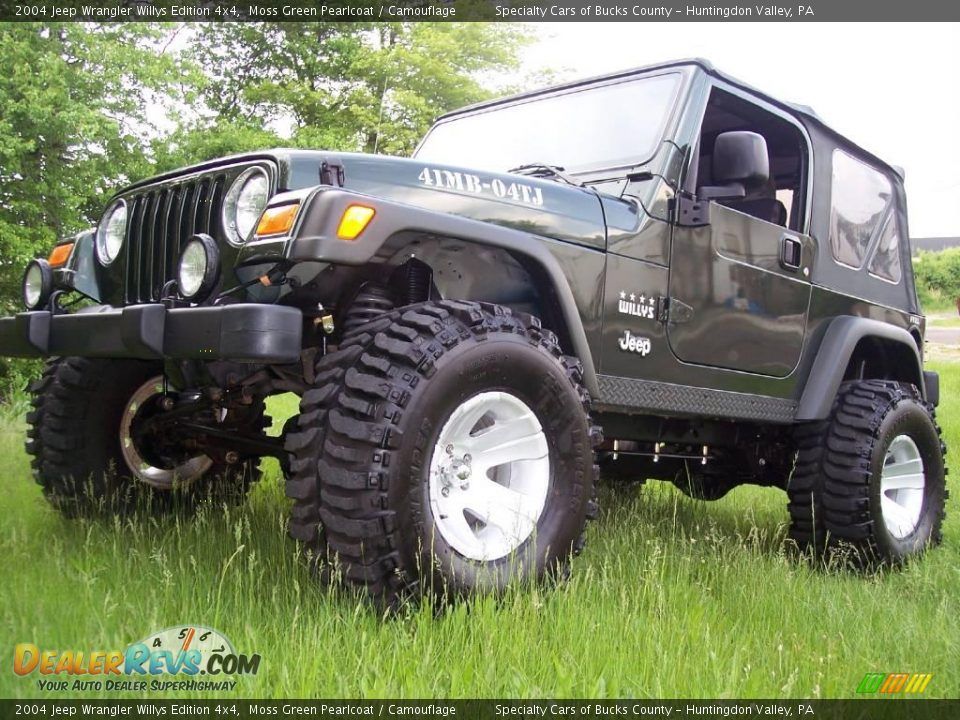 2004 Jeep Wrangler Willys Edition 4x4 Moss Green Pearlcoat