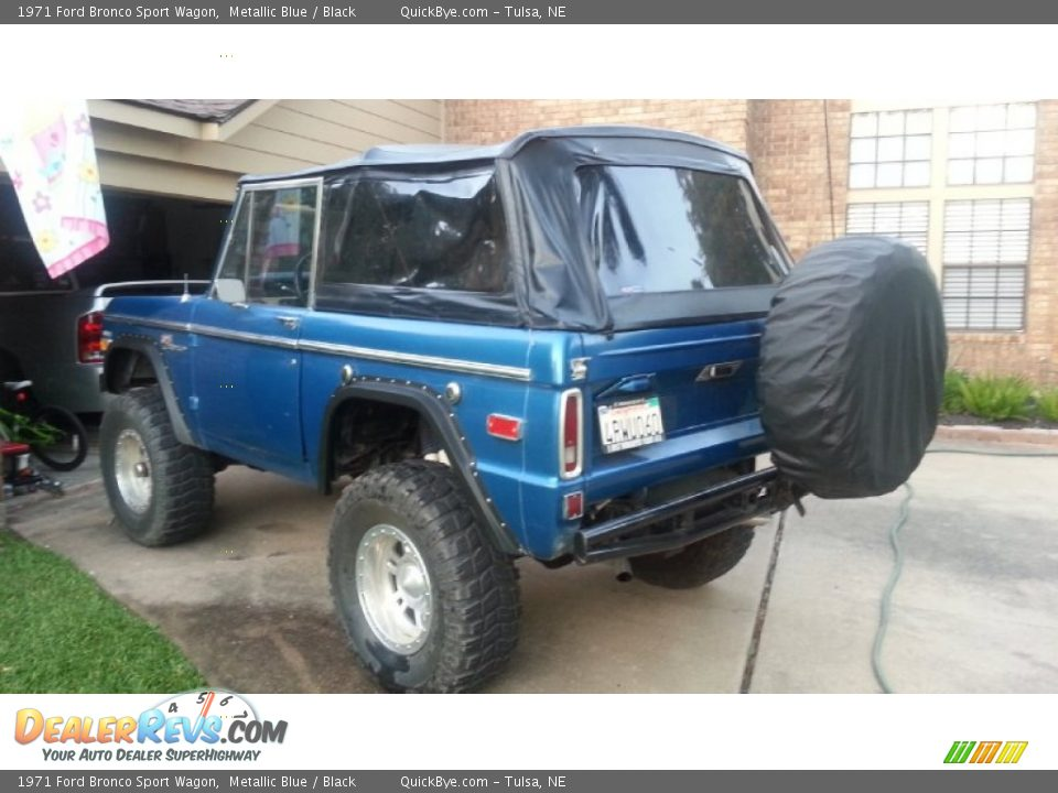 1971 Ford Bronco Sport Wagon Metallic Blue / Black Photo #3