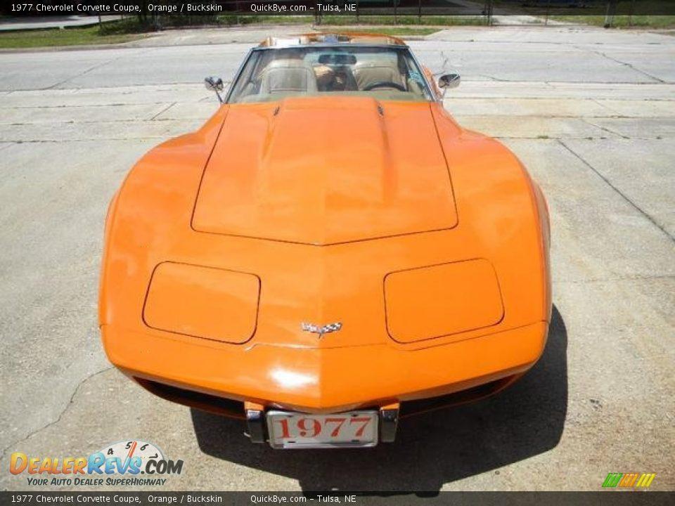 Orange 1977 Chevrolet Corvette Coupe Photo #2