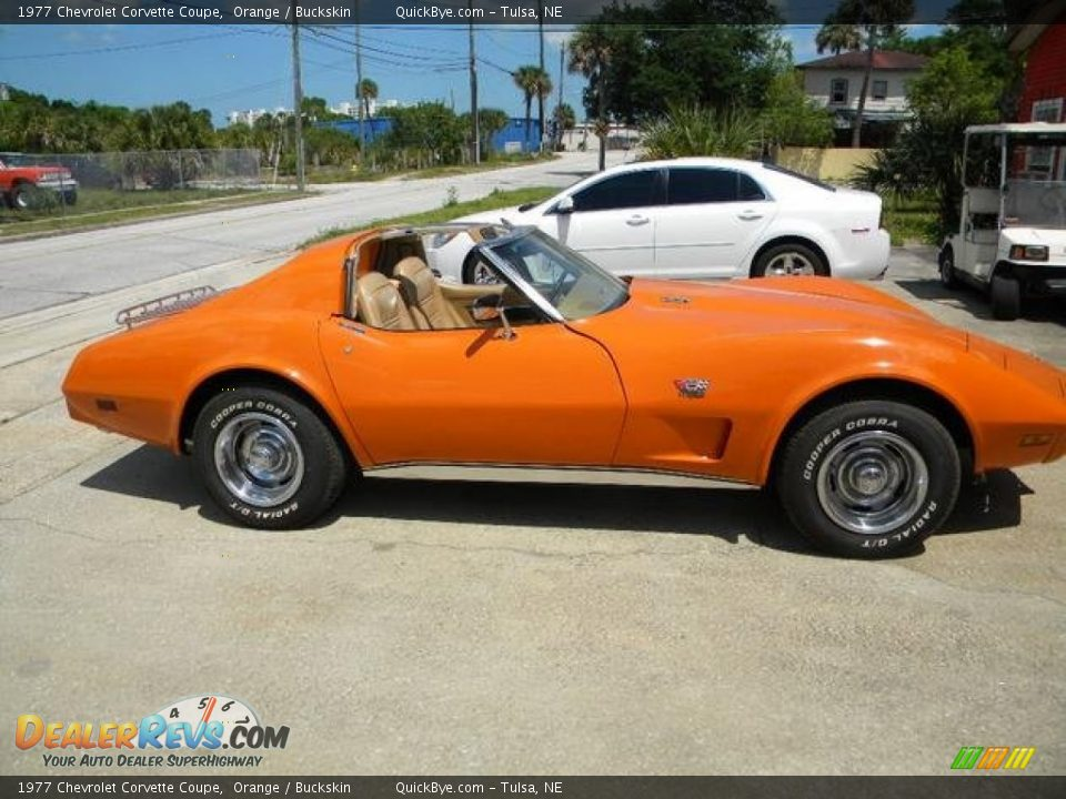 1977 Chevrolet Corvette Coupe Orange / Buckskin Photo #3