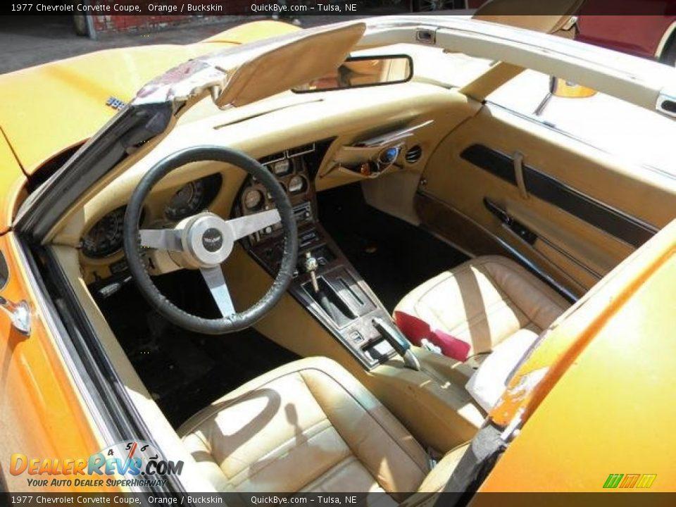 Buckskin Interior - 1977 Chevrolet Corvette Coupe Photo #7