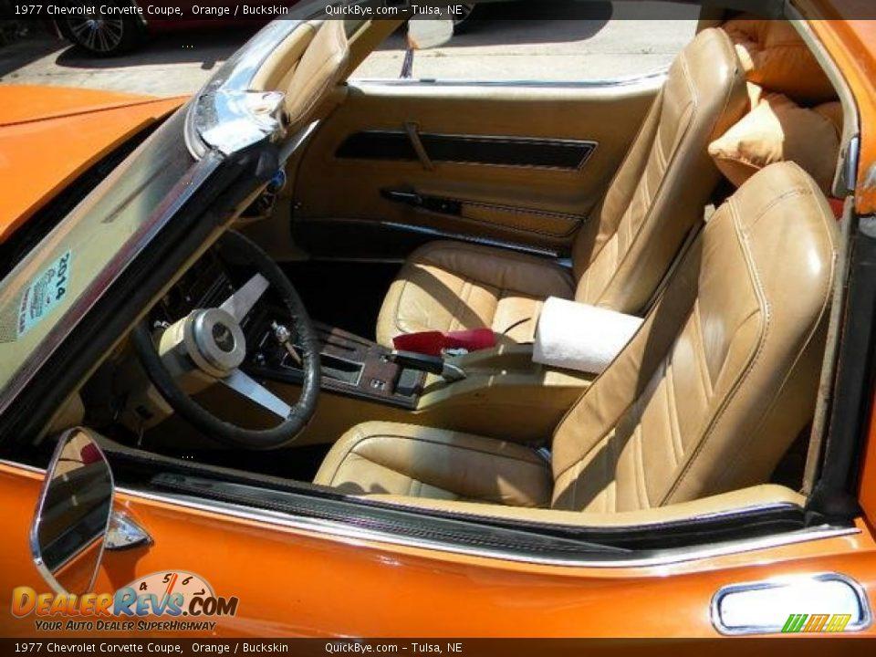 Buckskin Interior - 1977 Chevrolet Corvette Coupe Photo #8