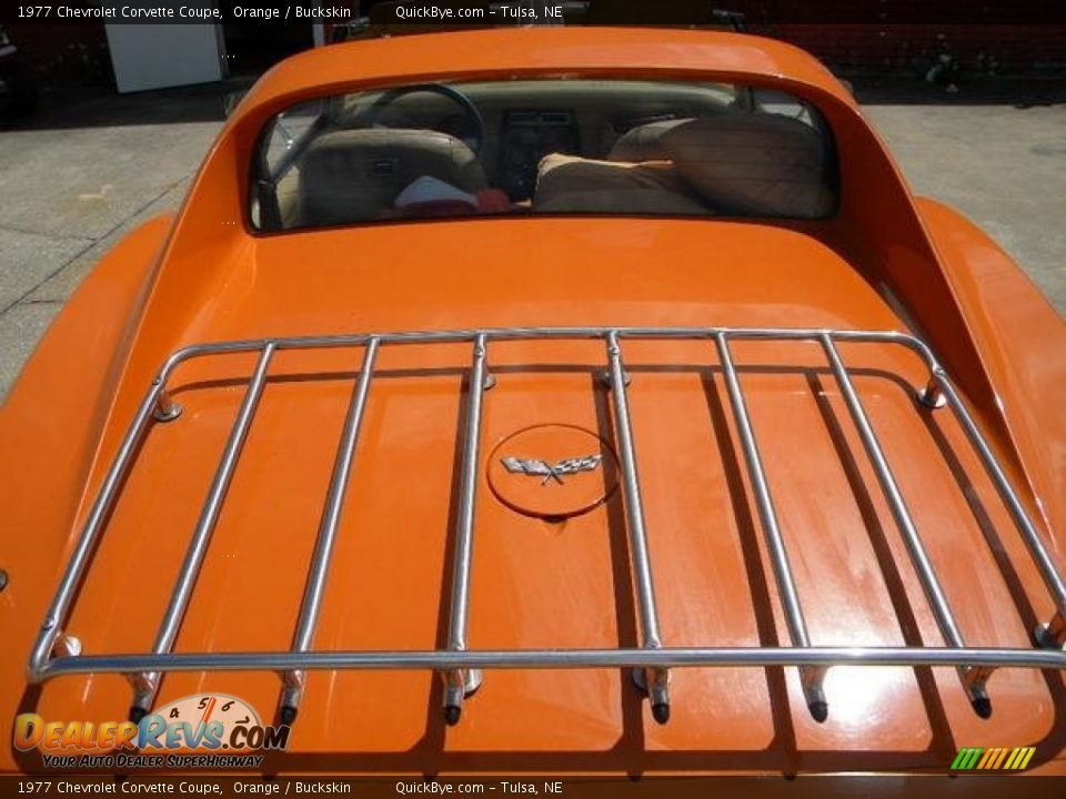 1977 Chevrolet Corvette Coupe Orange / Buckskin Photo #12