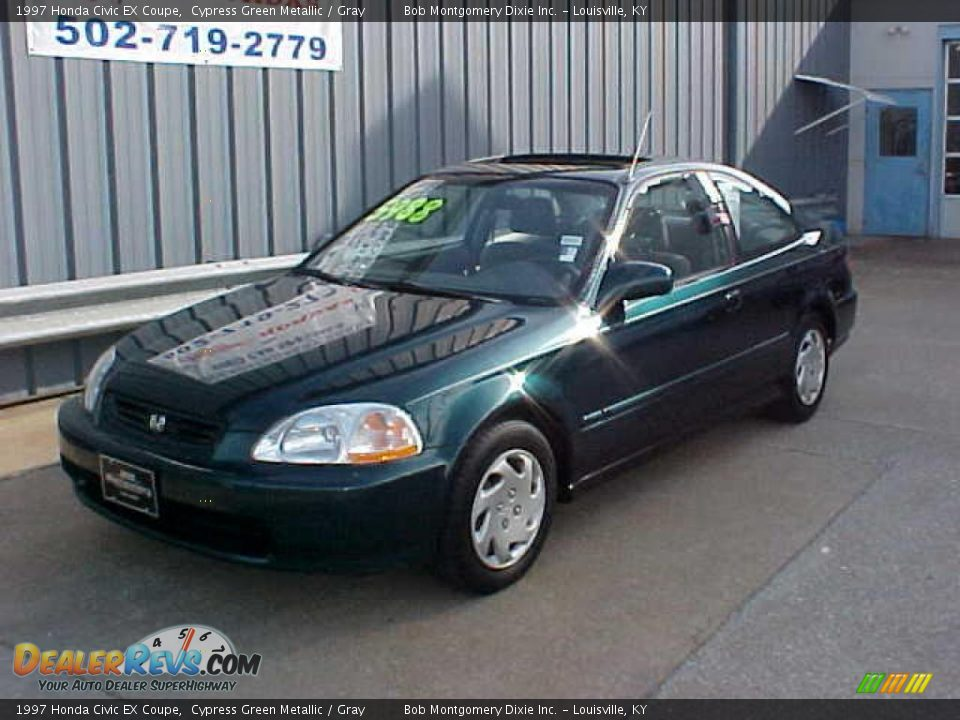 1997 honda civic ex coupe cypress green metallic gray photo 2. Black Bedroom Furniture Sets. Home Design Ideas