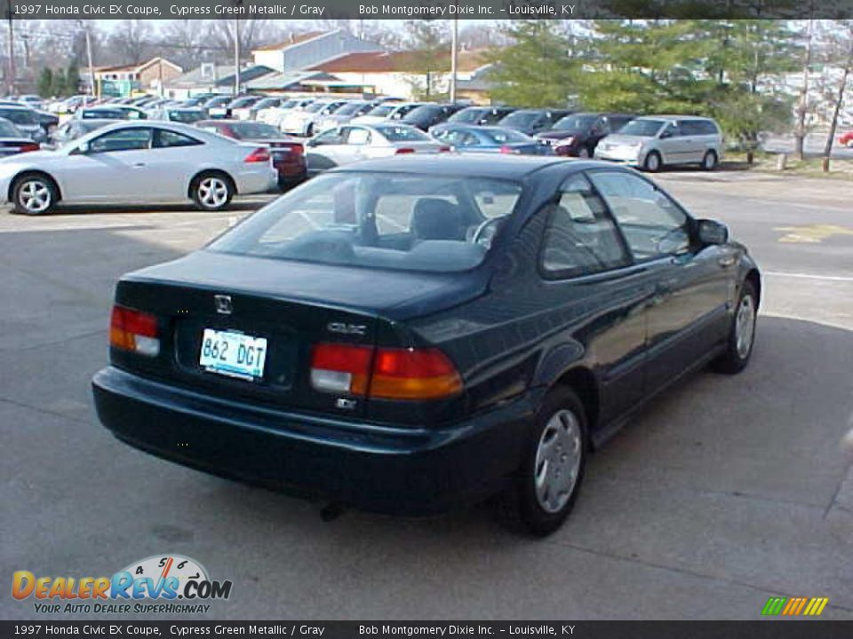 1997 honda civic ex coupe cypress green metallic gray photo 9. Black Bedroom Furniture Sets. Home Design Ideas