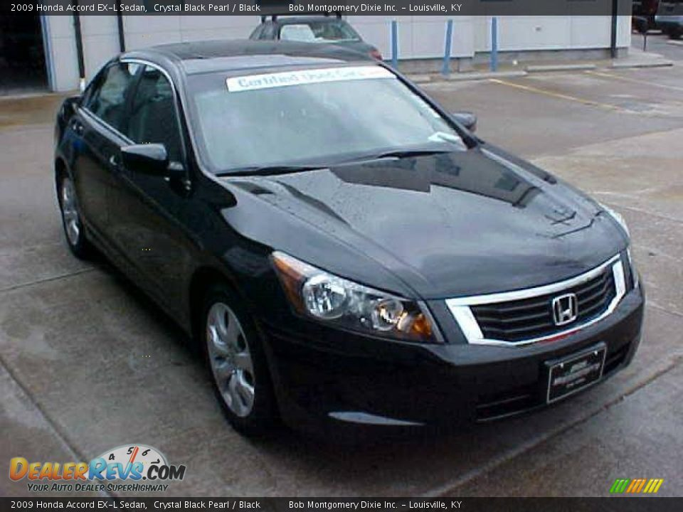 2009 honda accord ex l sedan crystal black pearl black. Black Bedroom Furniture Sets. Home Design Ideas