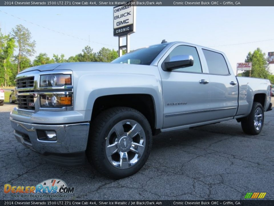 2014 chevrolet silverado 1500 ltz z71 crew cab 4x4 silver ice metallic jet black dark ash. Black Bedroom Furniture Sets. Home Design Ideas