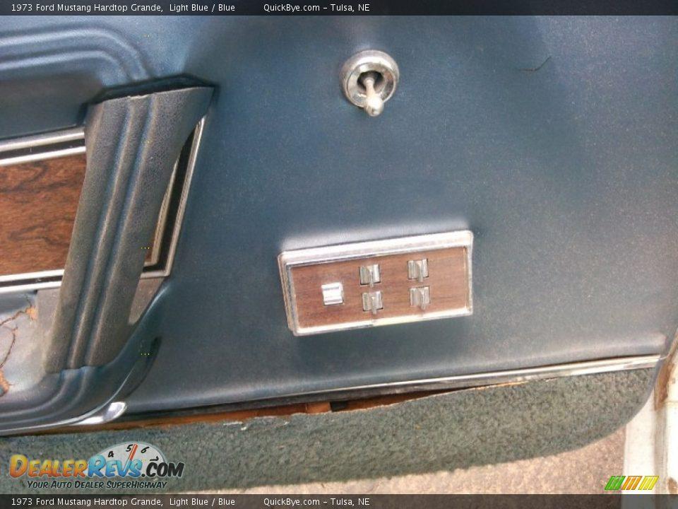 1973 Ford Mustang Hardtop Grande Light Blue / Blue Photo #11