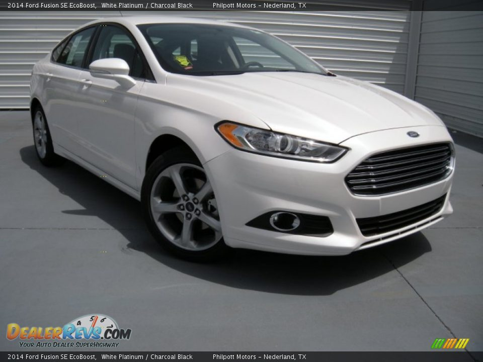 White Ford Fusion Used >> 2014 Ford Fusion SE EcoBoost White Platinum / Charcoal Black Photo #1 | DealerRevs.com