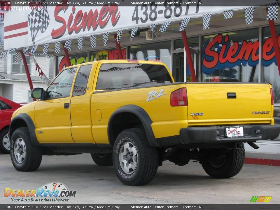 2003 Chevrolet S10 Zr2 Extended Cab 4x4 Yellow Medium Gray Photo