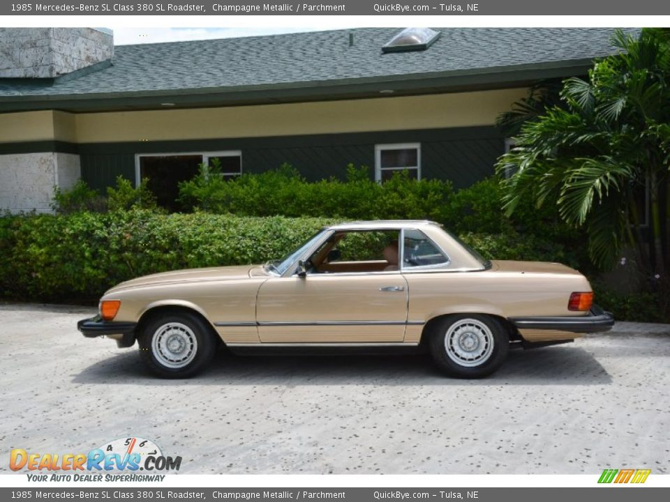 1985 Mercedes-Benz SL Class 380 SL Roadster Champagne Metallic / Parchment Photo #3