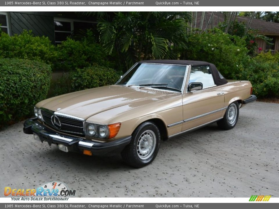 1985 Mercedes-Benz SL Class 380 SL Roadster Champagne Metallic / Parchment Photo #5