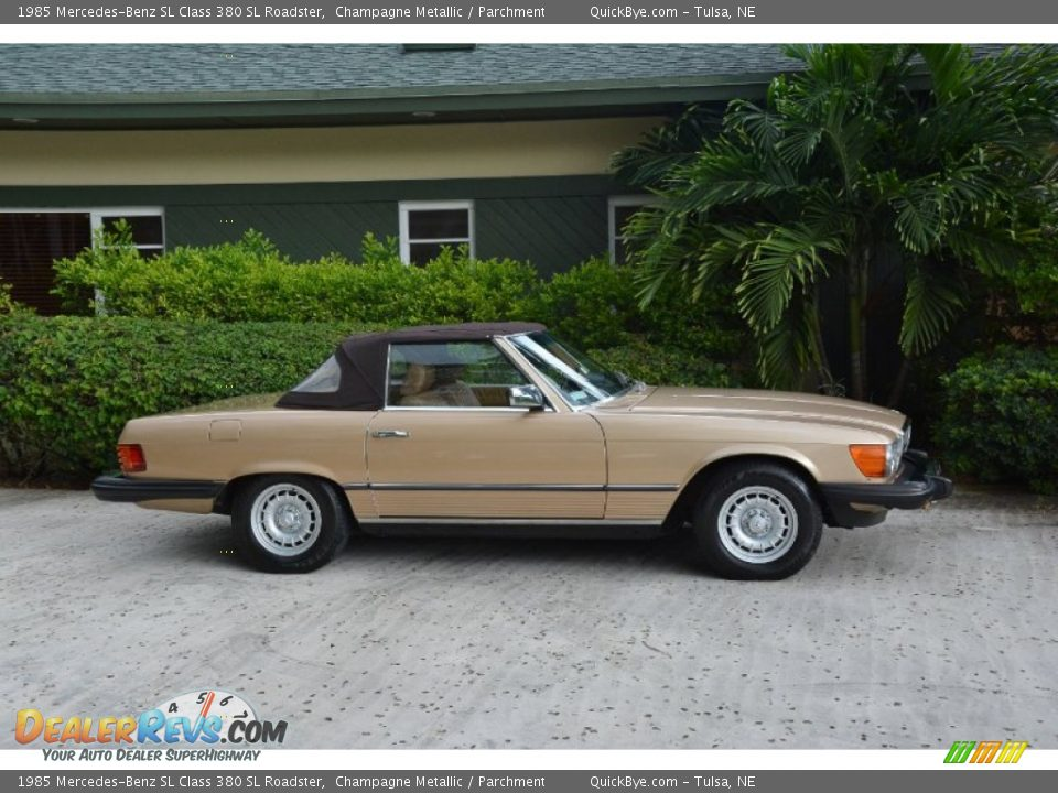 1985 Mercedes-Benz SL Class 380 SL Roadster Champagne Metallic / Parchment Photo #7